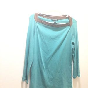 Women's size medium Ralph Lauren aqua blouse